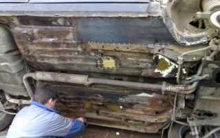 Ваз 2110 ремонт днища