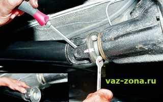 Замена сальника редуктора заднего моста ваз 2107