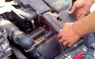 Как снять аккумулятор пежо 308
